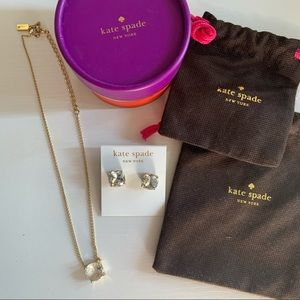 Kate Spade Stud Earrings and Necklace - NWOT ✨